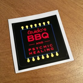 Guido's BBQ and Psychic Healing - 3 inch sticker