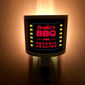 Guido's BBQ and Psychic Healing - night light