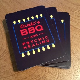 Guido's BBQ and Psychic Healing - playing cards