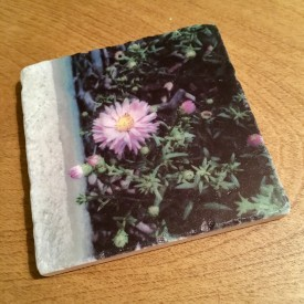 Here's a flower to get your day started - marble coaster