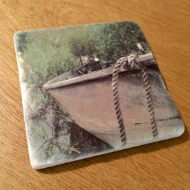 Old man boat - marble coaster