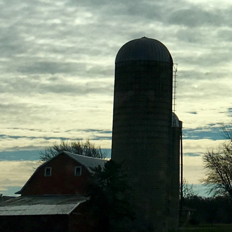 Silo with wide open clouds - photo print - Additional Image 2