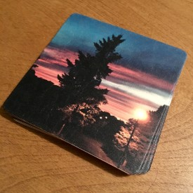 Sunset on Jul 3rd, 2016 - coaster set