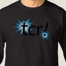 tcr! logo - long sleeve shirt