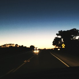 Twilight drive on Route 38 - photo print