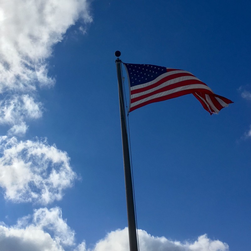 American Flag on a blue, blue sky - photo print - Additional Image 2