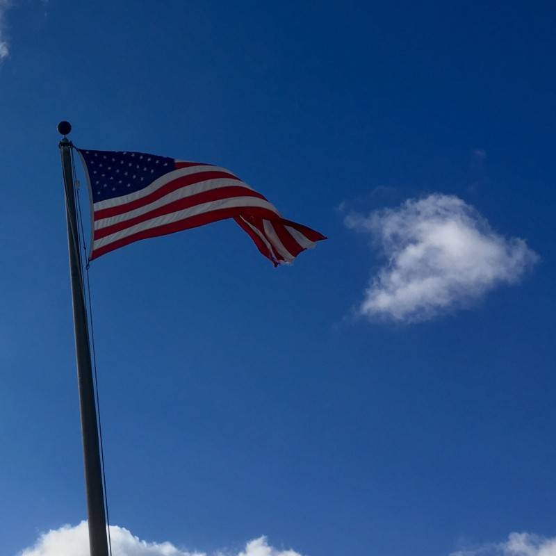 American Flag on a blue, blue sky - photo print - Additional Image 3