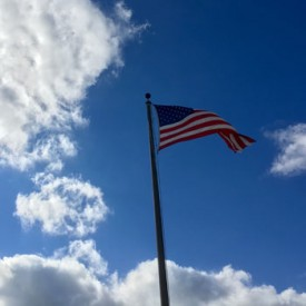 American Flag on a blue, blue sky - photo print