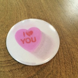 Candy Valentine Heart - 2.25 inch magnet