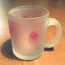 Candy Valentine Heart - frosted mug