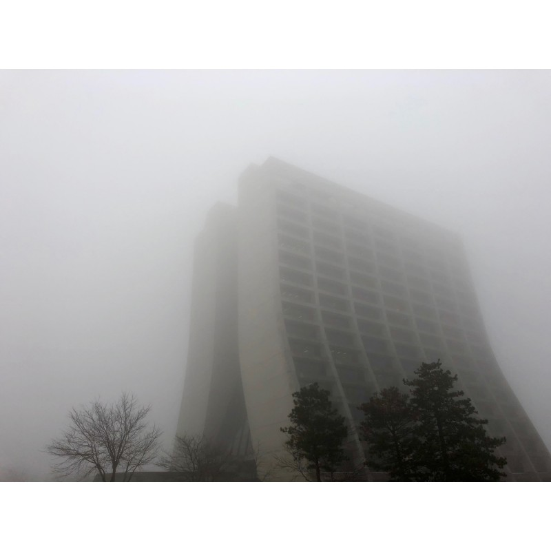 Fermilab's foggy Wilson Hall (part 2) - photo print - Primary Image