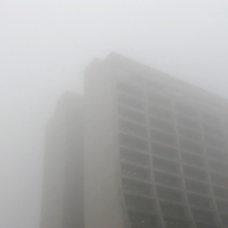 Fermilab's foggy Wilson Hall (part 2) - photo print - Additional Image 1