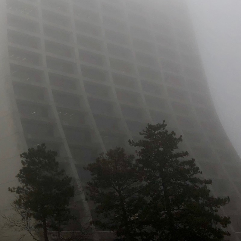 Fermilab's foggy Wilson Hall (part 2) - photo print - Additional Image 2