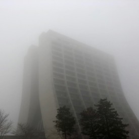 Fermilab's foggy Wilson Hall (part 2) - photo print