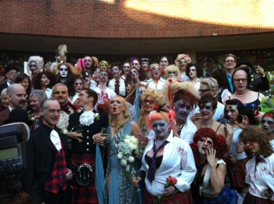 BRAAAINS: the artist, divided, and a zombie wedding (NSFW - nekkid photos)