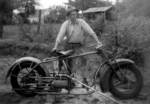Ray Clift and His Steam Motorcycle