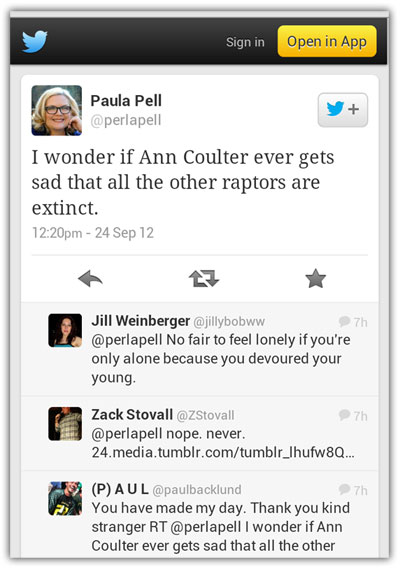 Ann Coulter is a raptor