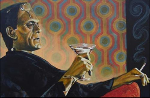 frankenstein with a martini