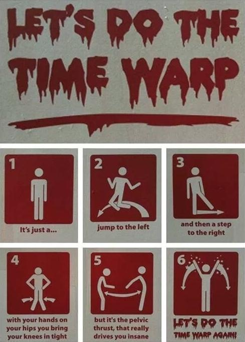 let's do the time warp instructional graphic