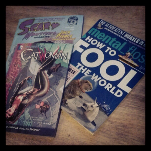 Catwoman, Scary Monsters and Mental Floss Magazines
