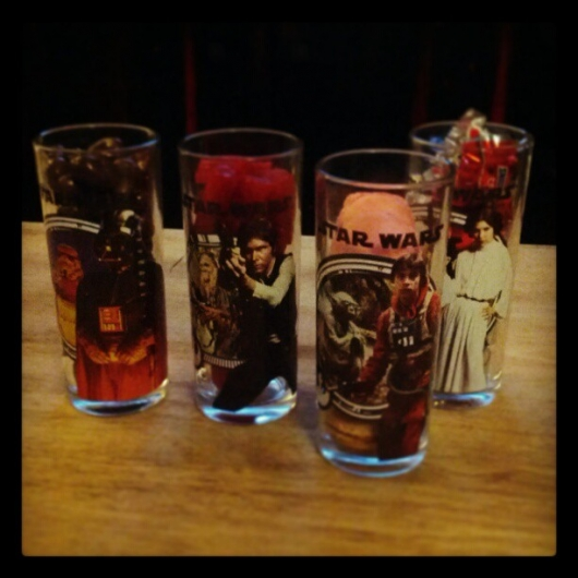 Star Wars Glasses Filled With Sweets on Valentines Day