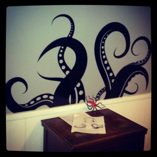 Vinyl Tentacles for My Wall