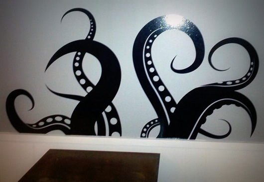 Vinyl Tentacles for My Wall 3