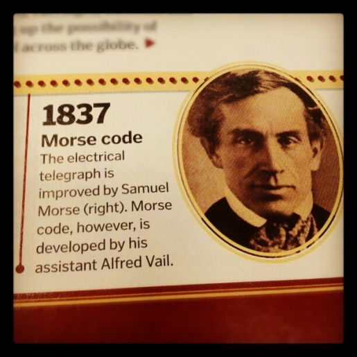 So it seems Morse didn't actually invent Morse Code