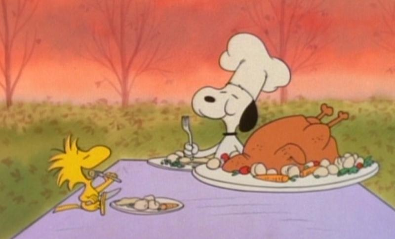 peanuts snoopy and woodstock thanksgiving