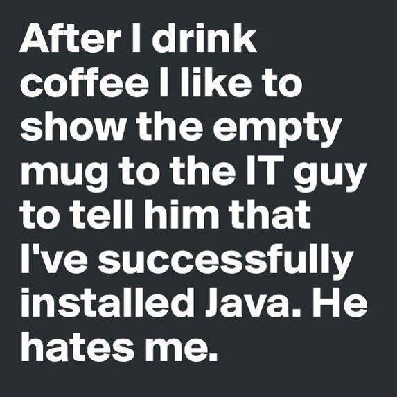 successfully installed java