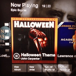 Halloween score now playing