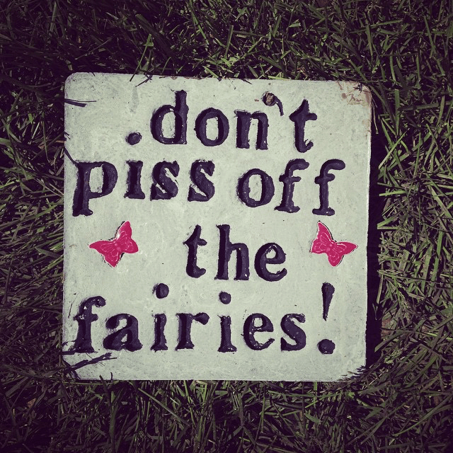 Don't piss off the fairies stone