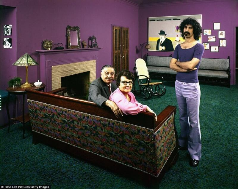 Frank Zappa with mom and dad