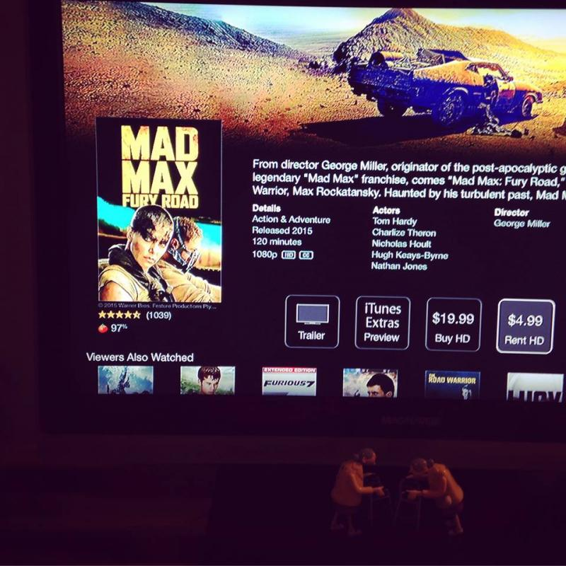 MadMax Fury Road on the TV