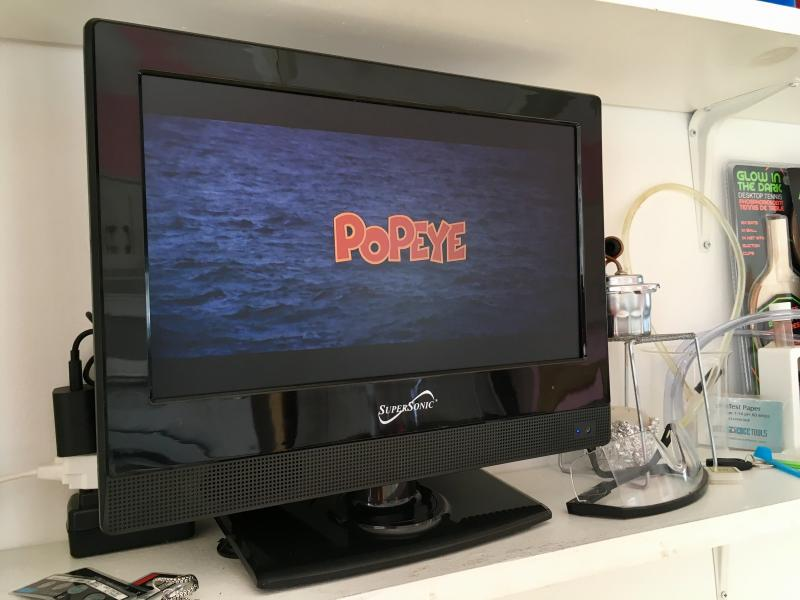 Popeye (1980) on the TV