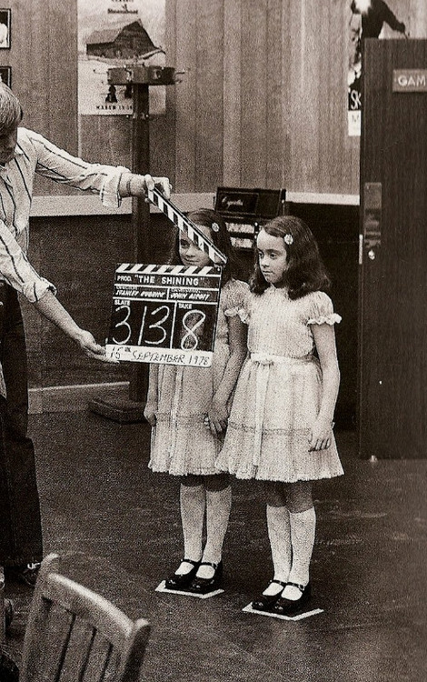 The Shining clapperboard with the twins