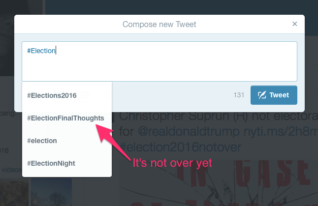 Twitter's ElectionFinalThoughts hashtag