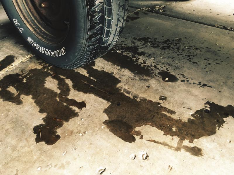 Brake fluid leak under the truck