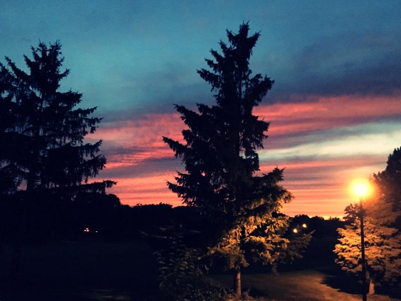 The sunsets around here can be more than awesome