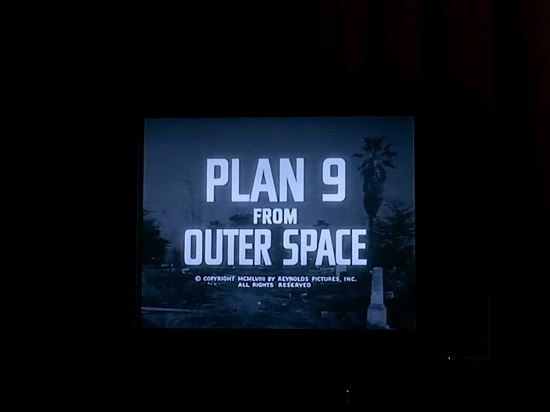 Plan 9 from Outer Space on the TV