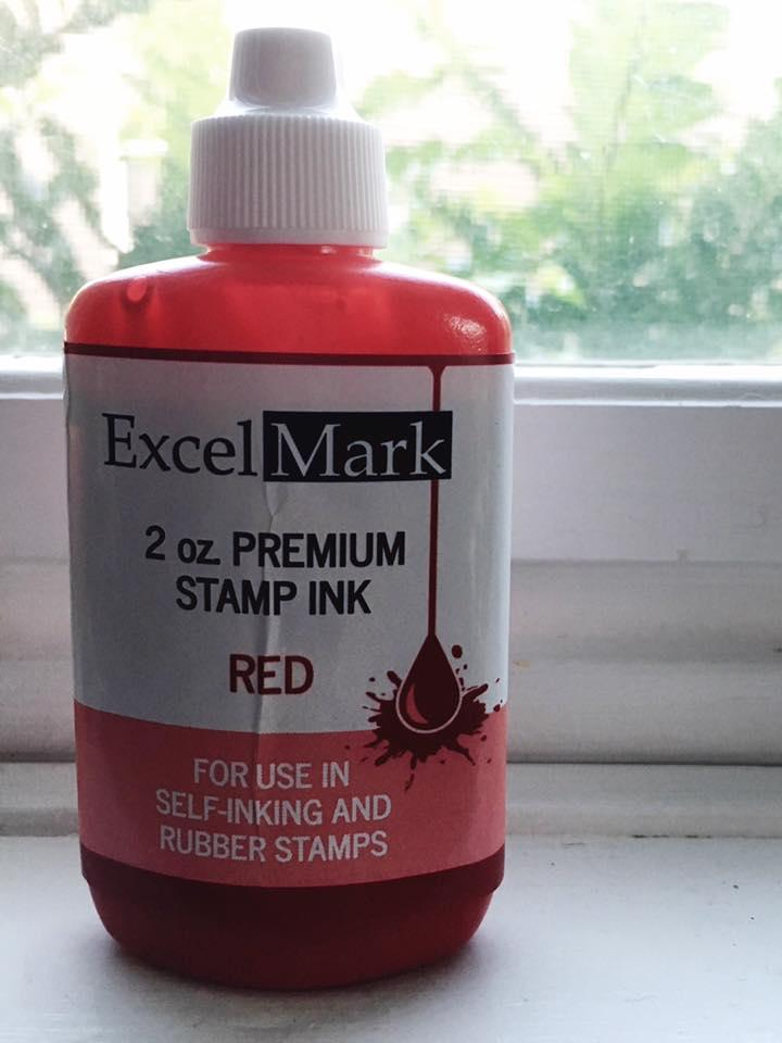 2oz premium stamp ink - red