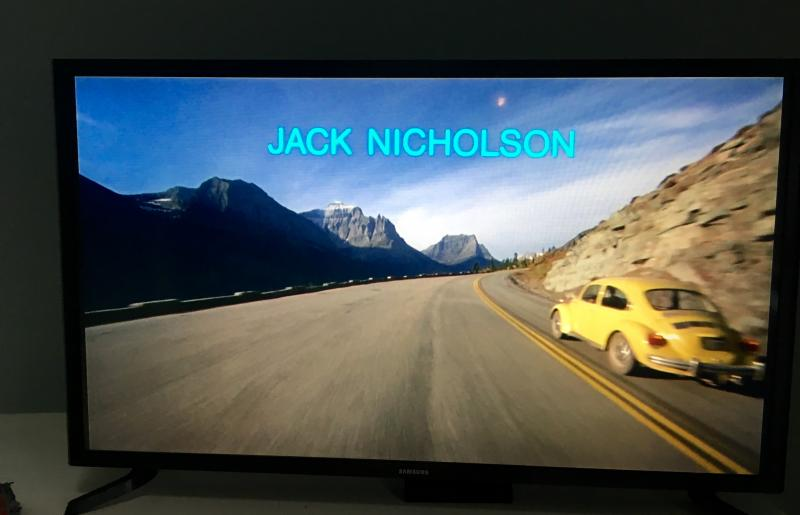 The Shining's yellow VW on the TV
