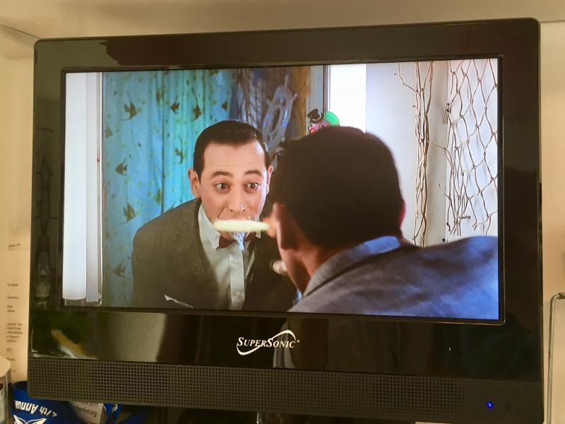 Pee wee Herman brushing his teeth 1