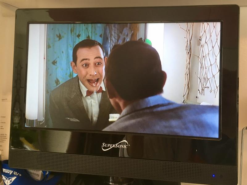Pee wee Herman brushing his teeth 2