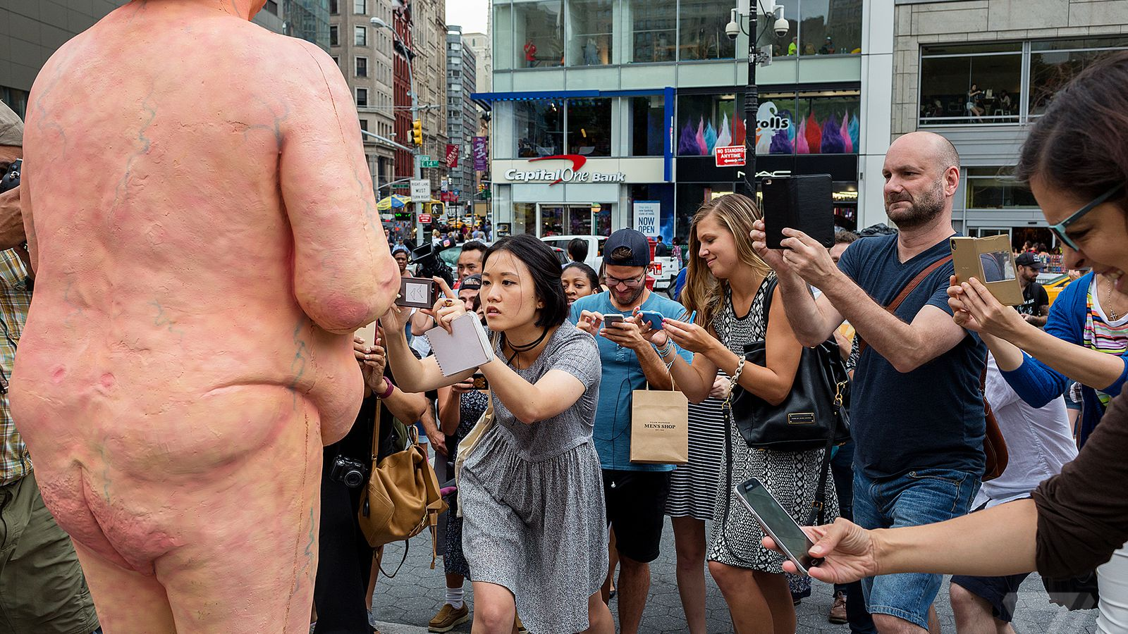 11 photos of NYC's naked Trump statue
