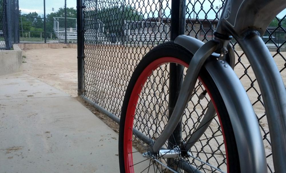 Bike at the ballfield