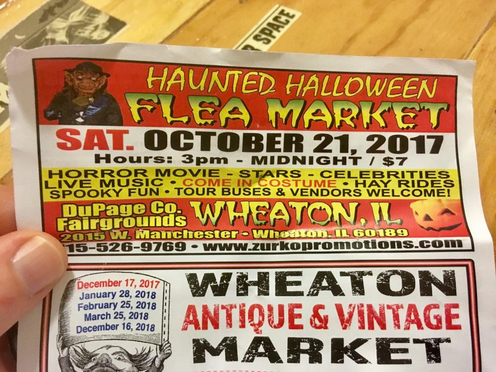 Haunted Halloween Flea Market flier