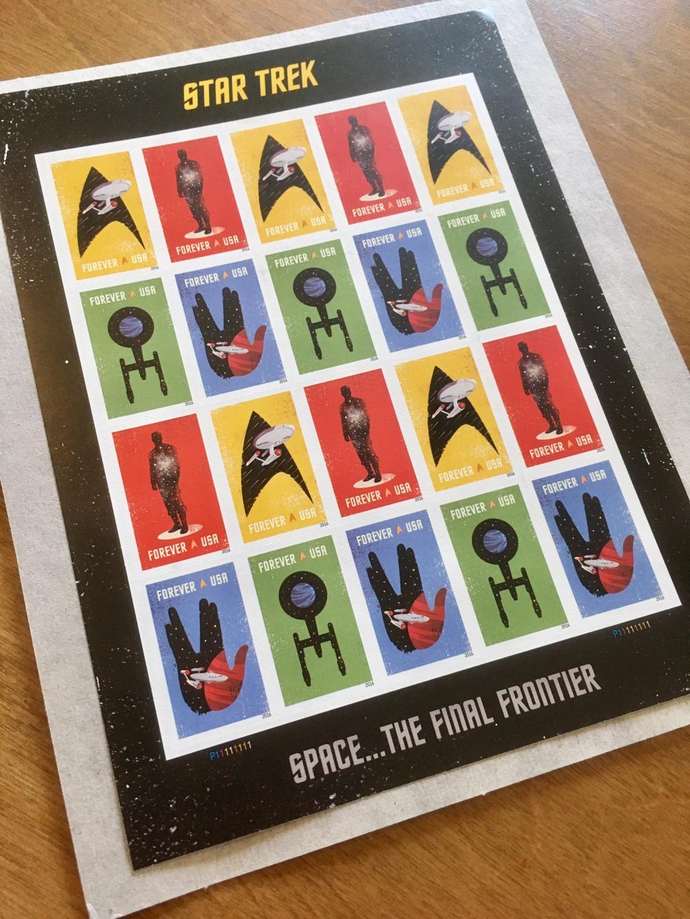 Star Trek stamps from my dad