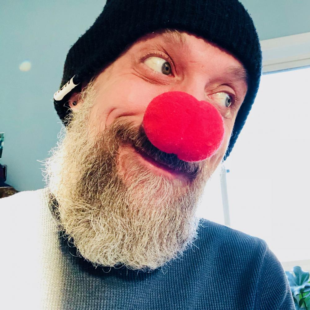 Red clown nose on Dec 1st
