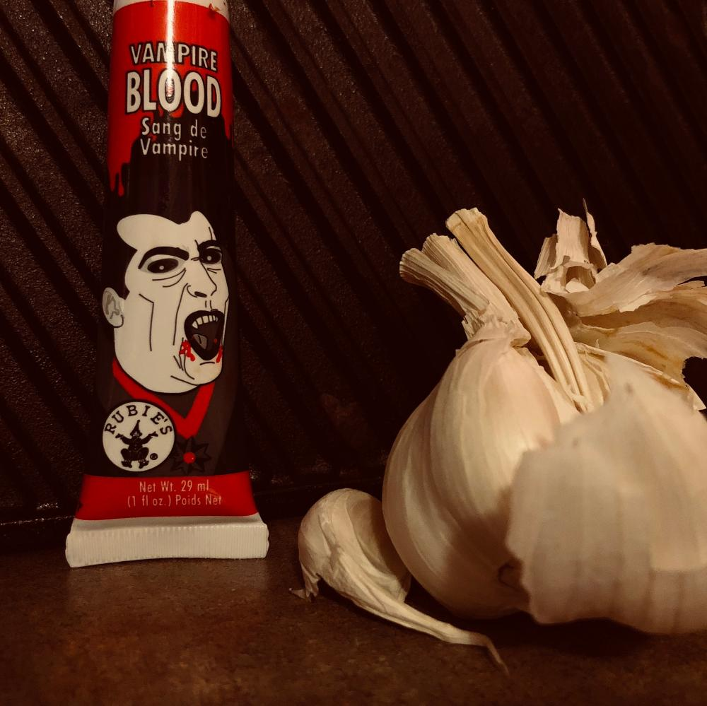 Vampire blood with garlic